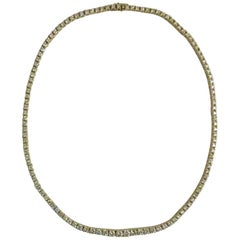 14K Yellow Gold Graduating Diamond Necklace
