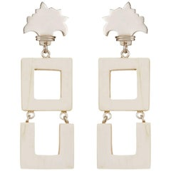 Fouche Horn Art Deco Africa Dangle Earrings
