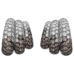 7.46 Carat Unique Diamond Earrings