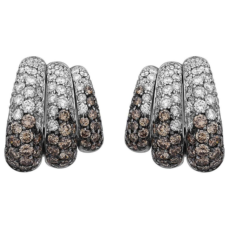 Emilio Jewelry 7.46 Carat Unique Diamond Earrings