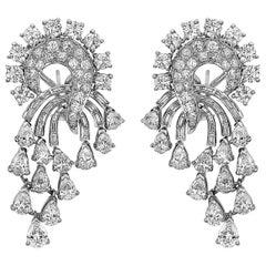 Emilio Jewelry 11 Carat Fancy Cut Diamond Earrings