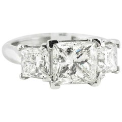 2.01 i/vs2 Certified Princess Cut Diamond Engagement Ring with Certified Sides