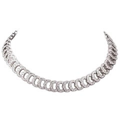 Cartier 'C De Cartier French Diamond Gold Choker Necklace