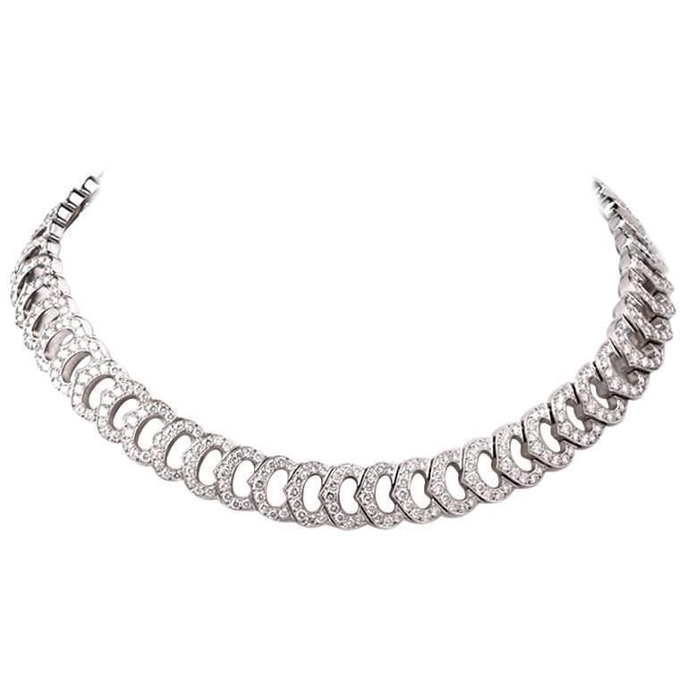 Cartier 'C De Cartier French Diamond Gold Choker Necklace