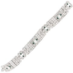 Platinum Art Deco and Diamond bracelet. Over 10.50 carats of Diamonds