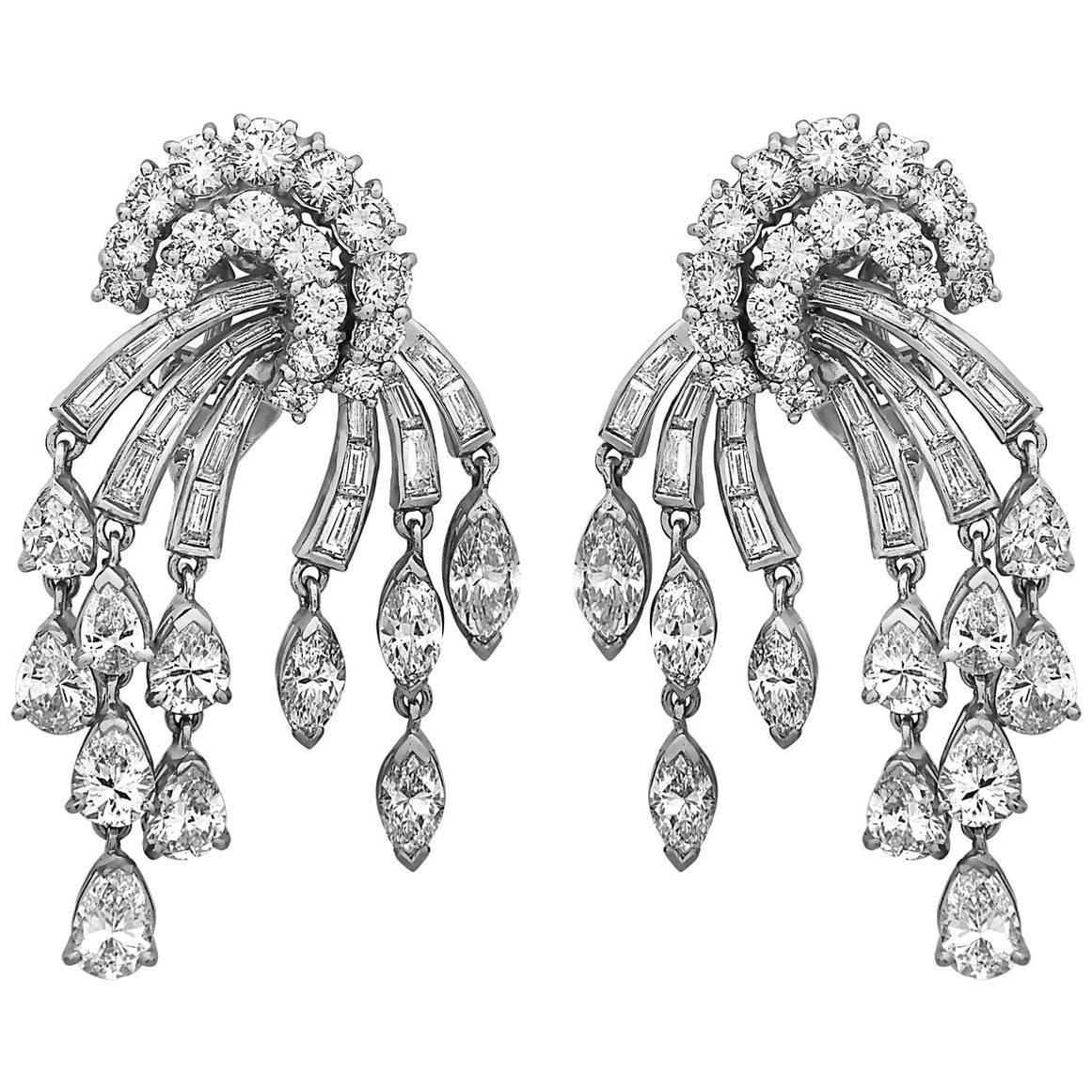 Emilio Jewelry 12.00 Carat Fancy Cut Diamond Earrings