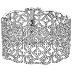 Emilio Jewelry 23.00 Carat Extra Wide Diamond Bracelet