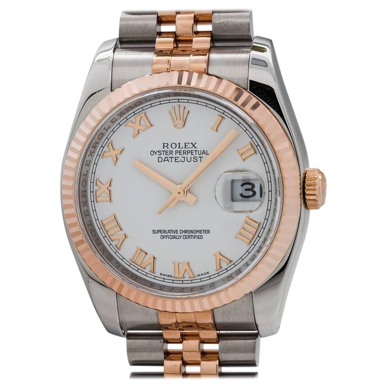 Rolex Pink Gold Stainless Steel Datejust Ref 116231, circa 2005