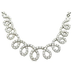 Round Diamond Looping Necklace