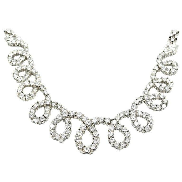 Round Diamond Looping Necklace