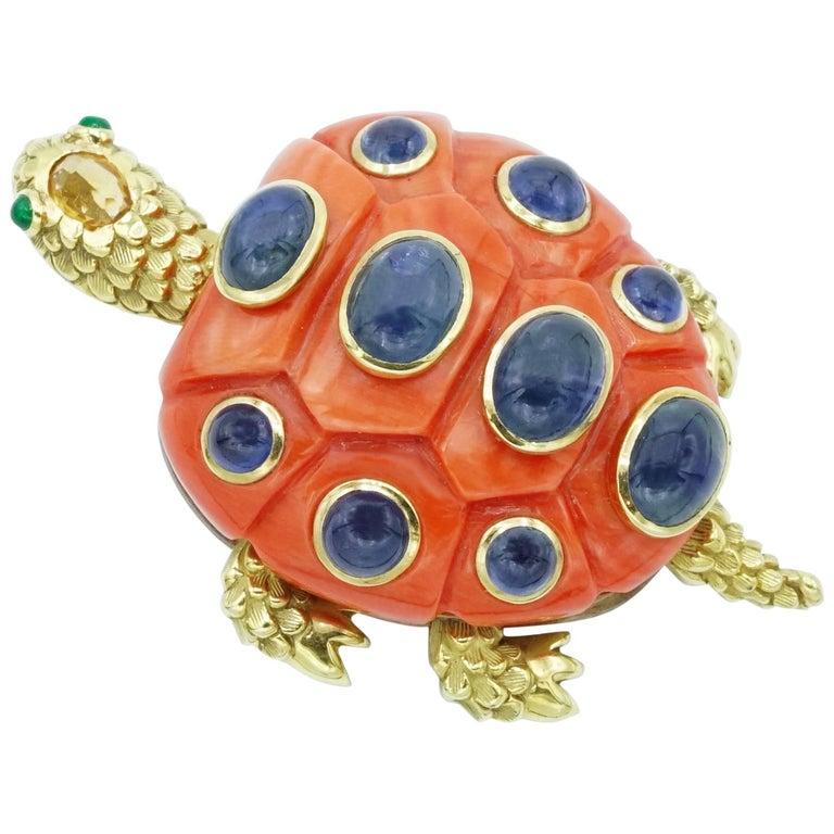 Seaman Schepps Turtle Brooch
