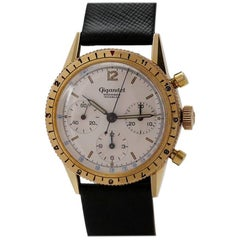 Wakmann Gigandet Gold-Plated Incabloc Chronograph Wristwatch, circa 1960s