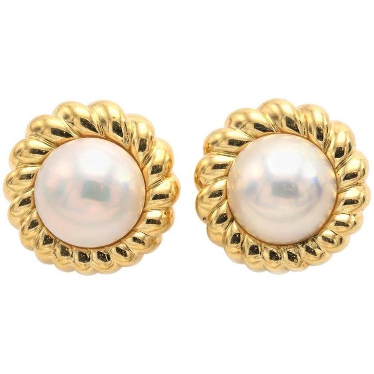 Clip On Bridal Cream Pearl Gold Dome Stud Top Long Teardrop Drop Earrings New