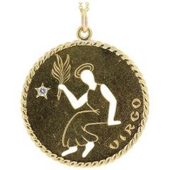 Cartier Vintage Virgo Zodiac Gold Charm