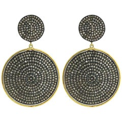 Diamond Drop Earrings in 14 Karat Gold