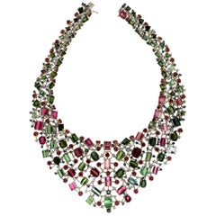 Tourmaline White Gold 18 karat Choker Necklace