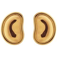 Gold Bean Earrings