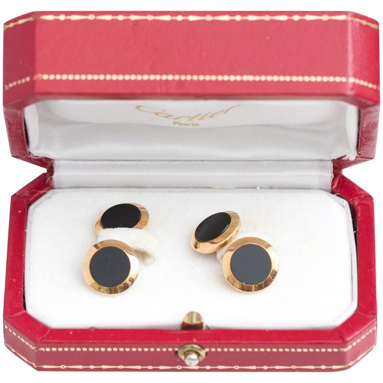 1950s Cartier 18 Karat Yellow Gold Cufflinks