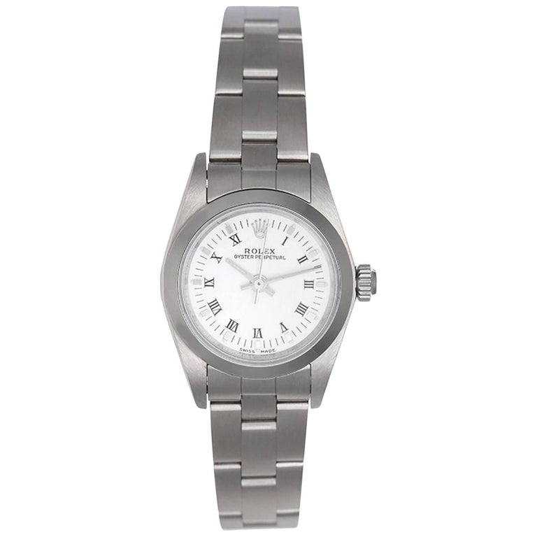 Rolex Ladies Stainless steel Oyster Perpetual No Date Automatic Wristwatch
