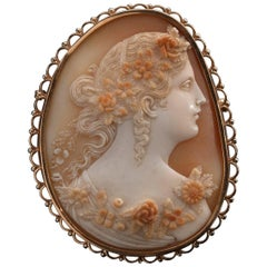 Shell Cameo Brooch