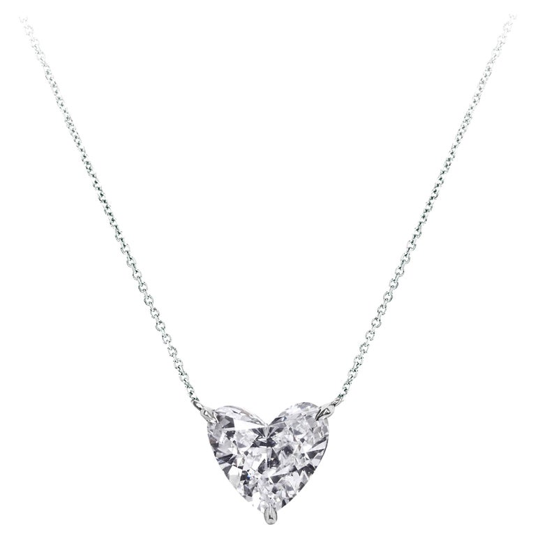 Gia certified 200 carat heart shape diamond solitaire pendant gia certified 200 carat heart shape diamond solitaire pendant necklace for sale aloadofball Image collections