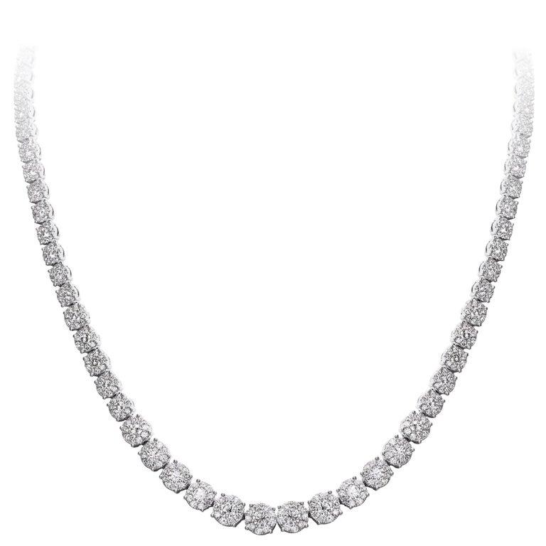 Diamond Riviera Graduating Necklace