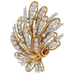 Bulgari Gold and Diamond Bouquet Brooch