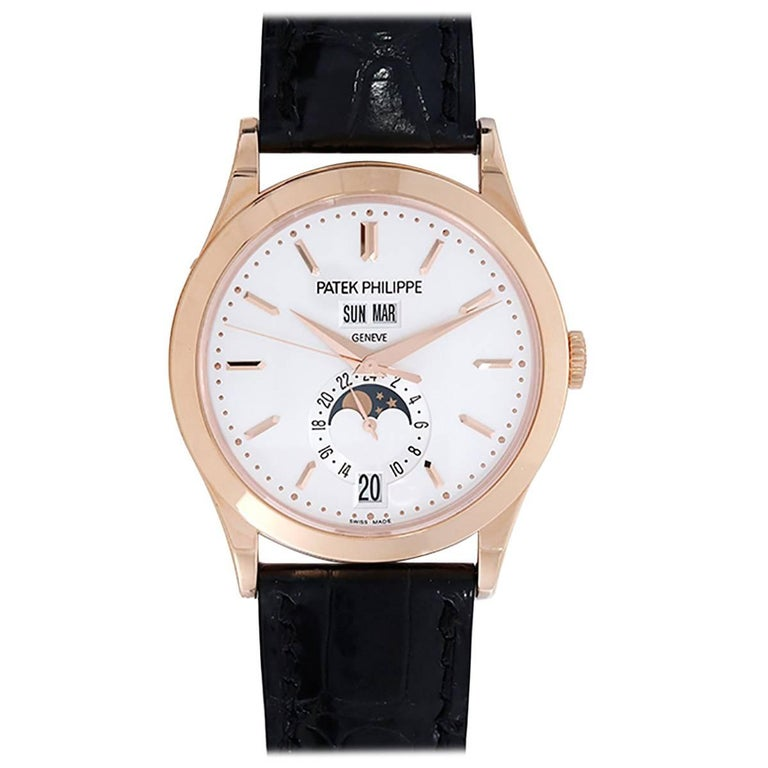 Patek Philippe Annual Calendar with Moon Phase Automatic Wristwatch