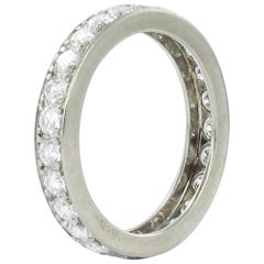 1.25 Carat Diamond White Gold Eternity Ring