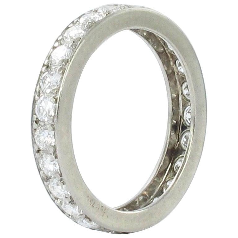 1.25 Carat Diamond White Gold Eternity Ring