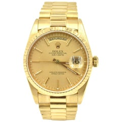 Rolex Day-Date President 18k Yellow Gold Champagne Dial Double-Quickset 18238