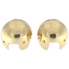 Pair of Earrings in 18 Karat Pink Gold