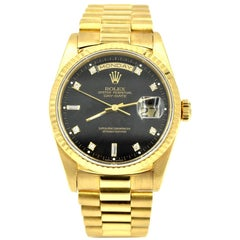 Rolex Yellow Gold Day-Date President automatic Wristwatch Ref 118238