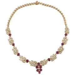 Adler 18 Karat Diamond Ruby Necklace