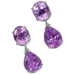 Pink Kunzite Dangle Earrings