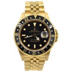 Rolex Yellow Gold GMT Wristwatch Ref 1675, circa 1980