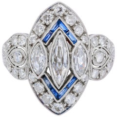 Fine Art Deco Marquise Diamond Ring