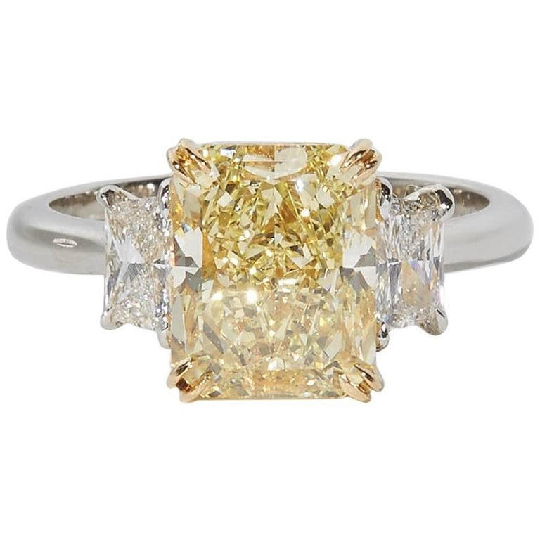 GIA Certified Fancy Yellow Diamond Engagement Ring