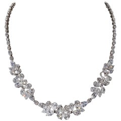 Diamond Cluster Wreath Necklace
