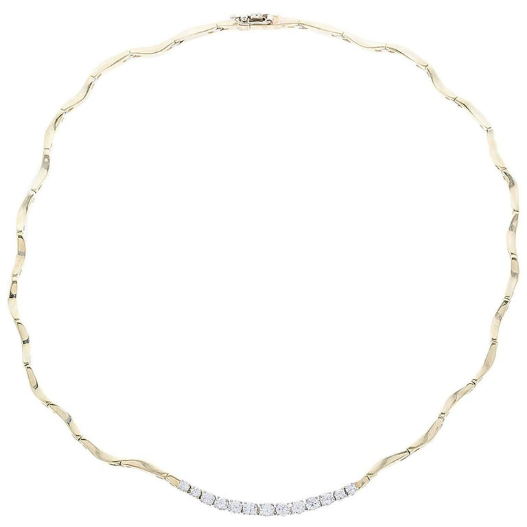 Wavy Choker Diamond Necklace