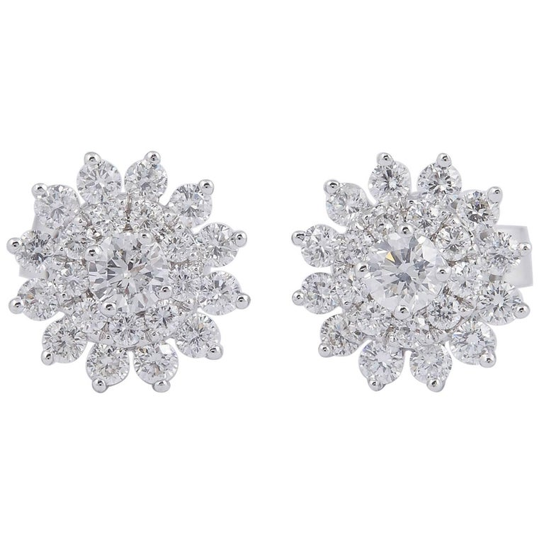 Diamond Cer Star Shaped Earrings Studs For