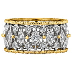 Buccellati Diamond Two-Color Gold Band Ring