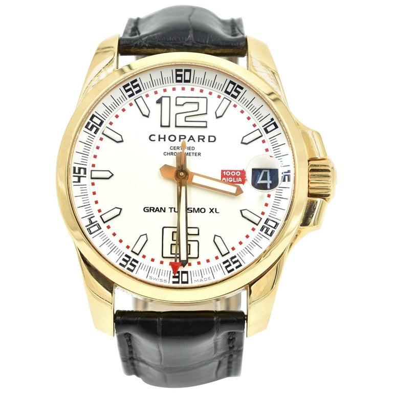 Chopard Rose Gold Gran Turismo Mille Miglia XL Automatic Wristwatch Ref 16/1266