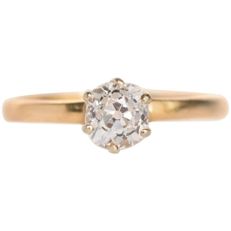 1910 Tiffany & Co .55 Carat Antique Cushion Cut Diamond Engagement Ring