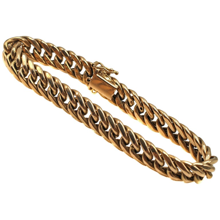 Classic Curb Link Chain 18 Karat Gold Bracelet