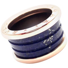 Bulgari B-Zero Lapis Lazuli Rose Gold Band Ring