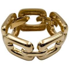 Flat Link Gold Bracelet