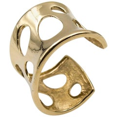 Moon Crater Gold Cuff Bracelet