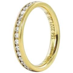 0.59 Carat Diamond Yellow Gold Eternity Ring
