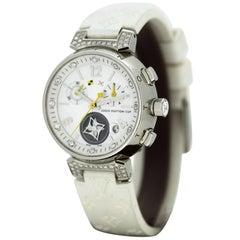 Louis Vuitton Tambour Diamond Ladies Wristwatch '0.56 Carat Total'